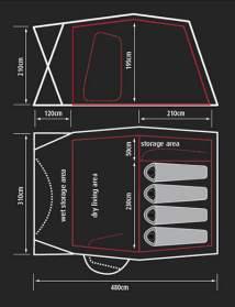 Sprayway Valley 4 Tent Uk Camp Site Articles