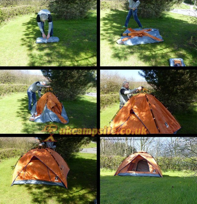 How to put up the OLPRO u0027POPu0027 Quick Erect Tent & OLPRO `POP` Quick Erect Tent - UK Camp Site Articles