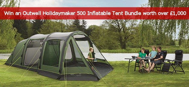 Win an Outwell Holidaymaker 500 Inflatable Tent Package worth over £1000! & UKCampsite.co.uk Competitions!