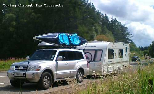Towing With A Boat On The Roof Ukcampsite Co Uk Caravans