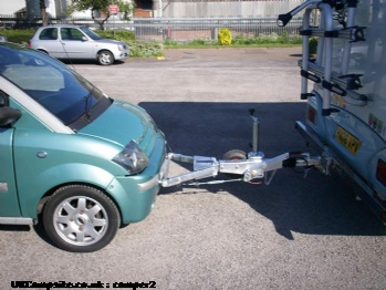Car and A frame - ideal for towing