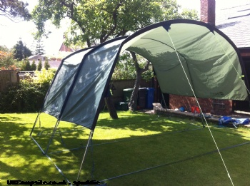 Outwell Sliding Canopy in green, 1 berth