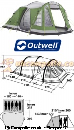 Outwell Nevada MP, 5 berth, (2013)