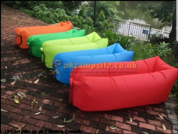Easy inflatable sleeping/lounger bag
