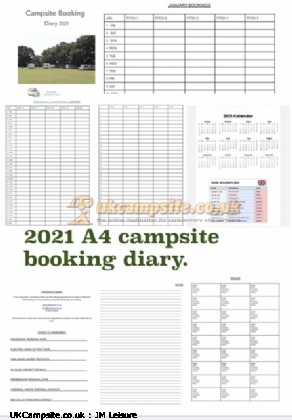 Campsite Booking Diary 2021