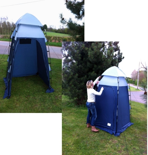 ... 33% (£20) from the RRP of £59.99 //.ukc&site.co.uk/membershop/deluxewc.asp Also makes a perfect utility tent for storage or as a shower unit.  sc 1 st  UK C&site & Save 33% on the OLPro Deluxe Toilet Tent UKCampsite.co.uk Tent ...