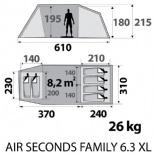 Quechua 6 3xl family seconds air tent reviews and details - Tente 4 places 2 chambres seconds family 4 2 xl quechua ...