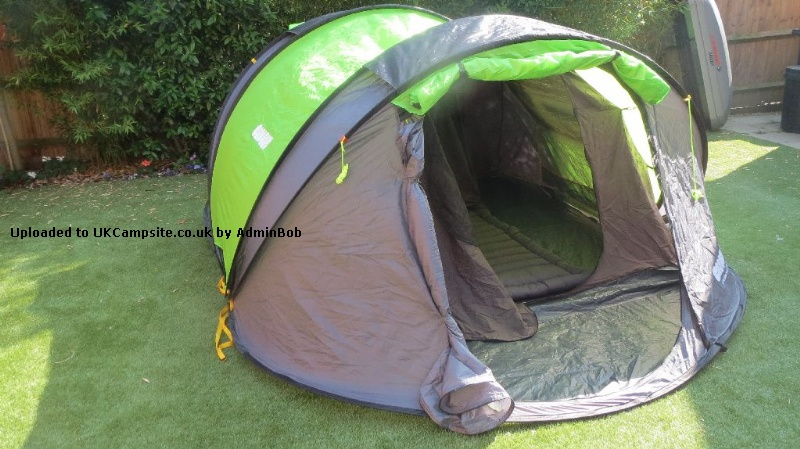 If you have a photo of this Tent click here to upload it. 5 Reviews of the Cinch 4 Man Pop Up & Cinch 4 Man Pop Up Tent Reviews and Details