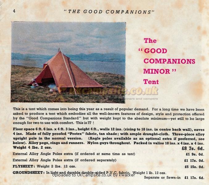 If ...  sc 1 st  UK C&site & Blacks Good Companion Minor Tent Reviews and Details
