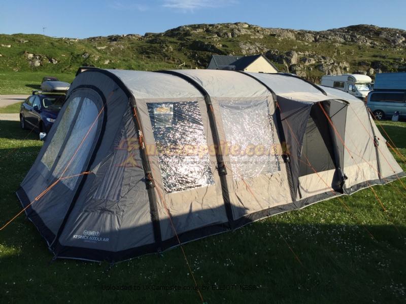 vango keswick 600dlx air tent pitch