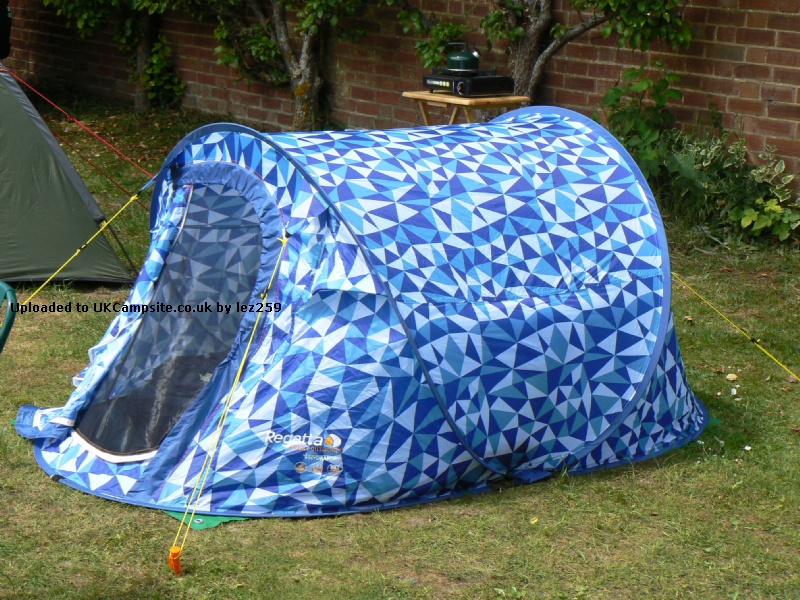 Member Uploaded Images - click to enlarge & Pro Action/Argos Regatta 2 Man Pop Up Tent Reviews and Details