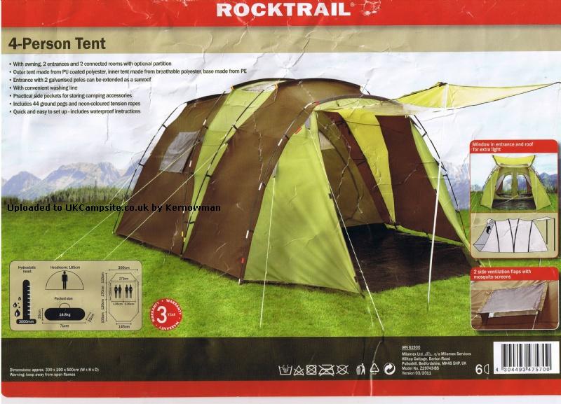Lidl Rocktrail 4 Tent Reviews And Details